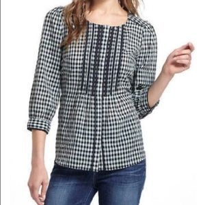 Anthropologie Meadow Rue Gingham Check Blouse